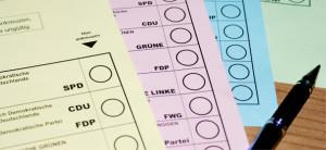 Studie Wahlzettel Bundestagswahl