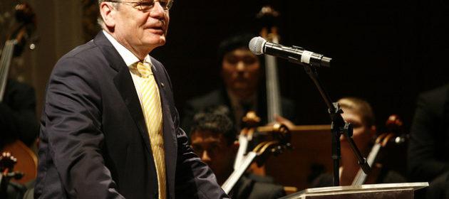 Bundespräsident Joachim Gauck © Ministério da Cultura/CC 2.0/flickr, bearbeitet by IslamiQ.