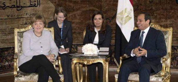 Bundeskanzlerin Angela Merkel traf sich mit dem ägyptischen Präsidenten Abd al-Fattah as-Sisi, um womöglich ein Flüchtlingsabkommen zu unterzeichen