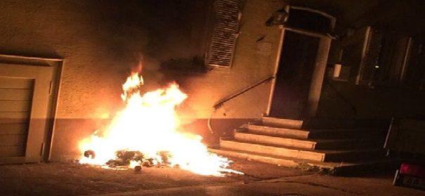 Brand an zukünftiger Bopfinger Moschee(1)