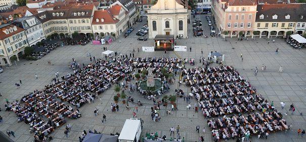 öffentliches Fastenbrechen in Ludwigsburg