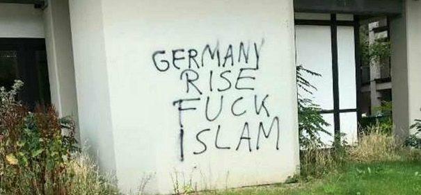 HHU mit islamfeindlichen Parolen beschmiert
