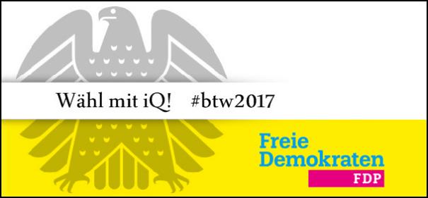Banner iQ-Wahlprüfstein - FDP © IQ