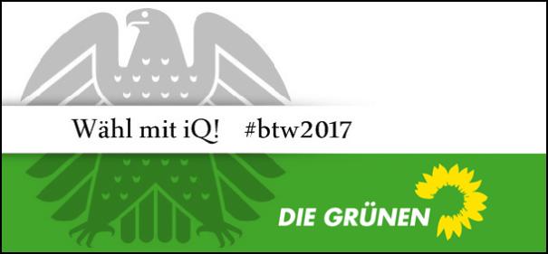 Banner iQ-Wahlprüfstein - Die Grünen © IQ