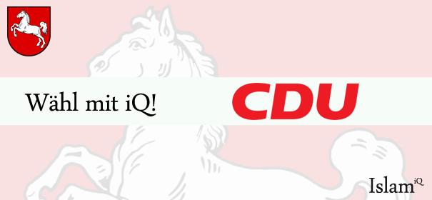 Landtagswahlen Niedersachsen - CDU © iQ.