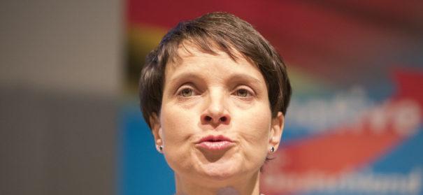 Frauke Petry Anfang des Jahres in Köln bei der Pressekonferenz der AfD.