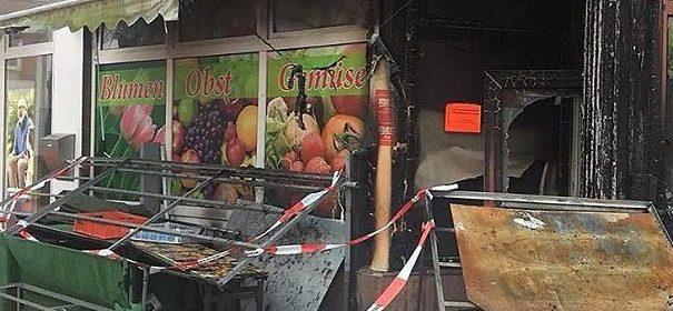 Brandanschlag auf türkisches Gemüseladen in Itzehoe © Facebook