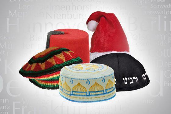 Symbolbild: Vielfalt - Solidarität mit Juden – Muslime tragen Takke