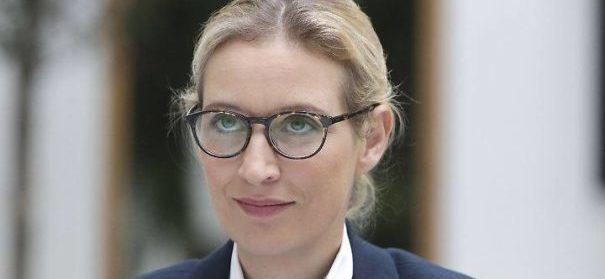AfD, Alice Weidel, Spitzenkandidatin © Facebook, bearbeitet by iQ.