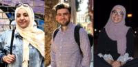 Muslime zu der Causa-Özil: v. links nach rechts: Dilara Sönmez, Enes Karaca, Iman Laghmari. © privat