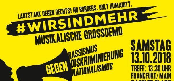 """""""Wir sind mehr"""" Frankfurt (c)fachebook"""