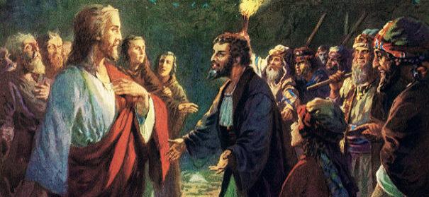 künstlerische Darstellung von Jesus und Judas. © flickr, CC 2.0, Waiting for the Word