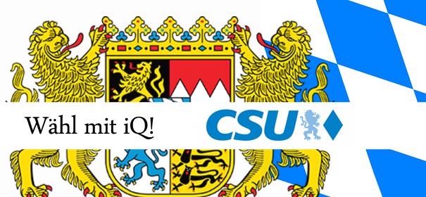 Landtagswahlen in Bayern - CSU