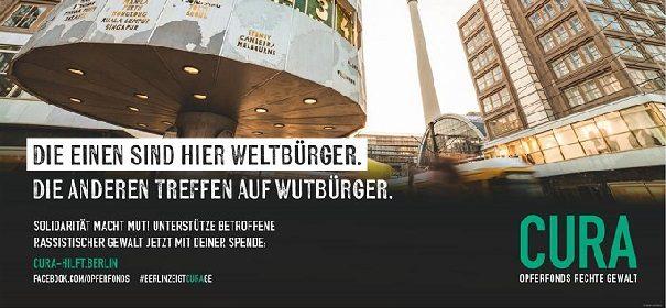 Kampagne: Berlin steht an der Seite von Betroffenen rechter Gewalt