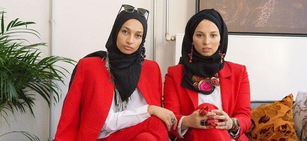 Die Lebdiri Schwestern - Modelabel Mizaan © Kreativpilot, bearbeitet by iQ.