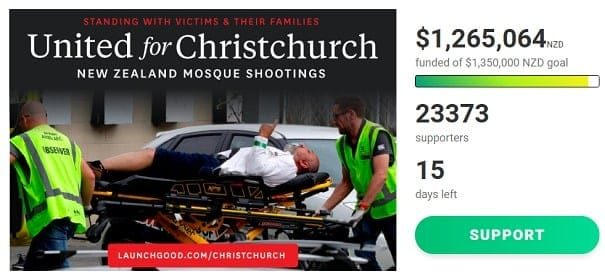 United for Christchurch (c)twitter, bearbeitet by IslamiQ