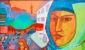 Graffiti-Wand in Berlin - Muslimin mit Kopftuch