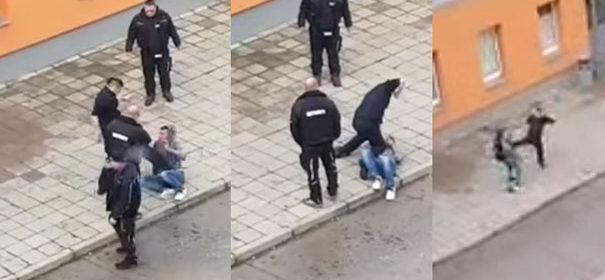 Szenen aus einem Video, wie Wachleute Flüchtlinge schlagen © YouTube, bearbeitet by iQ