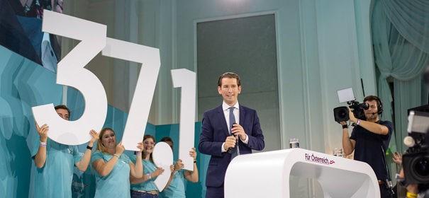 ÖVP. Österreich, Sebastian Kurz führt neue Regierung als Bundeskanzler an © Facebook, bearbeitet by iQ.