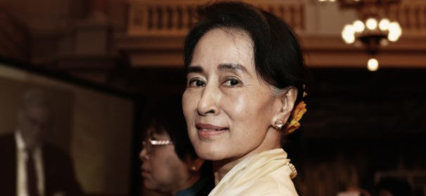 Aung San Suu Kyi (c)shutterstock, bearbeitet by iQ