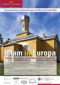 """Plakat Fotoausstellung """"Islam in Europa"""" an Universitätsbibliothek Osnabrück"""