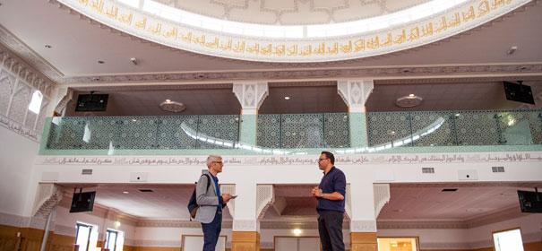 Symbolbld: Moscheebesuch