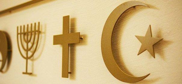 Symbolbild: Religionsfreiheit (Judentum,Islam, Christentum) © Facebook Universität Luzern, bearbeitet by iQ.