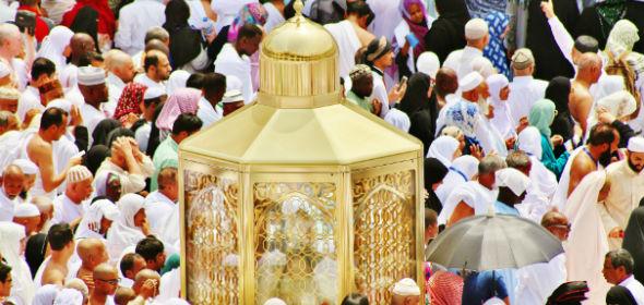 Maqam Ibrahim nahe der Kaaba © auf madrasah.de, bearbeitet IslamiQ
