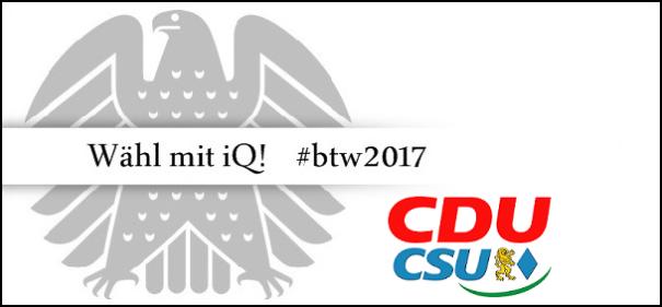 Banner CDU/CSU © IQ