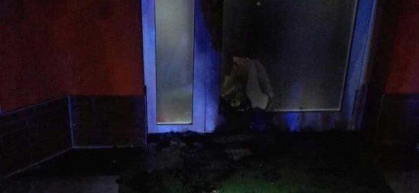 Brandanschlag auf Dar-Al-Salem-Moschee © Polizei Mittelhessen