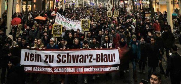 Rund 20.000 Personen haben gestern in Wien gegen die neue Regierung demonstriert. © Facebook