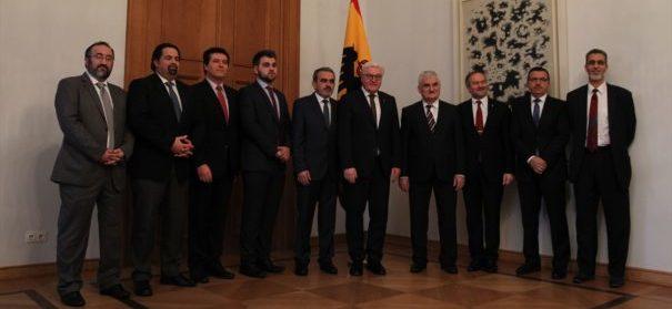 Muslimische Vertreter aus Deutschland zu Gast bei dem Bundespräsidenten Frank-Walter Steinmeier. © AA