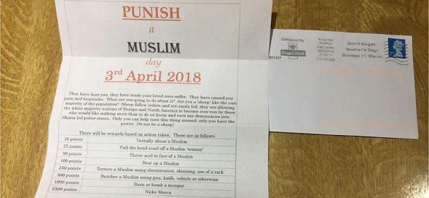 Aufruf zu Gewalt gegen Muslime