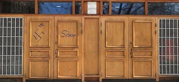 Schwedische Moschee mit Hakenkreuze beschmiert