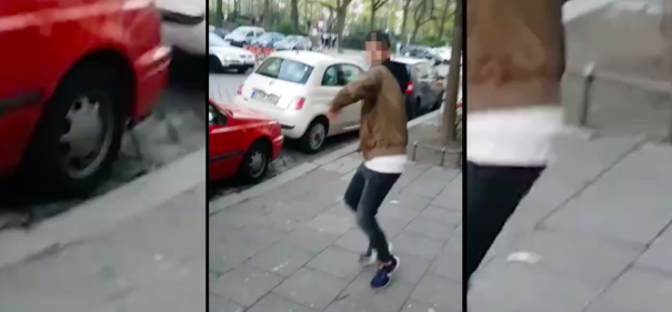Der Angegriffene hat den antisemitischen Vorfall aufgenommen. © screenshot/stern.tv