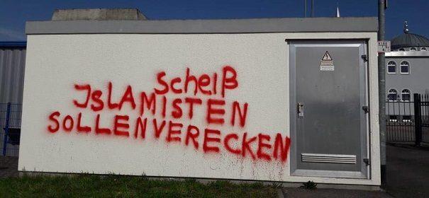 Angriff auf die Moschee in Öhringen © Facebook, bearbeitet by iQ.