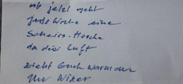 Drohschreiben ALIF © Facebook, bearbeitet by iQ.