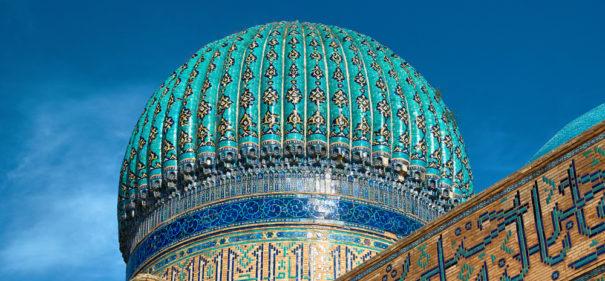 Das Mausoleum für Hodscha Ahmed Yasawi. © shutterstock