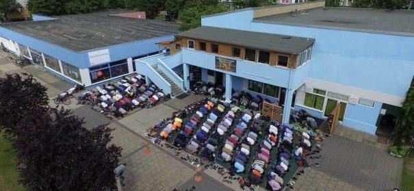 Die Moschee in Halle, die zum zweiten Mal Zielscheibe eines Angriffs wurde. © facebook