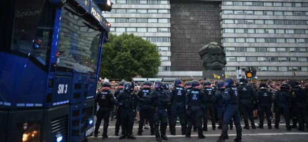 rechtsextreme Demonstration in Chemnitz