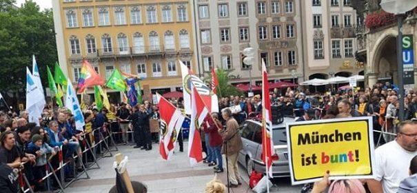 Demonstration in München © Privat, bearbeitet by IslamiQ