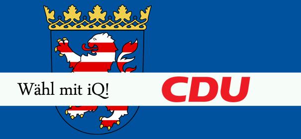 iQ-Wahlprüfstein Landtagswahlen Hessen - CDU