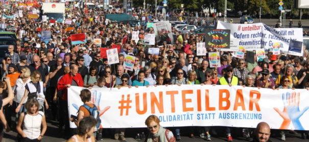 Die #unteilbar Demonstration gegen Rassismus in Berlin. © CC-BY 4.0 unteilbar.org