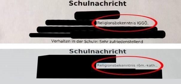 Antrag IGGÖ Zeugnis Österreich