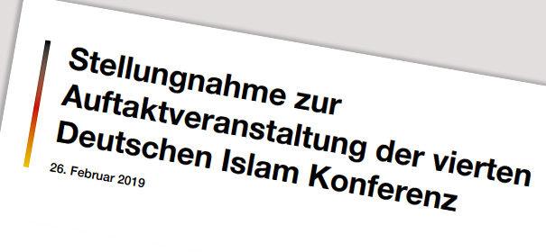 Stellungnahme Islamkonferenz Islamrat