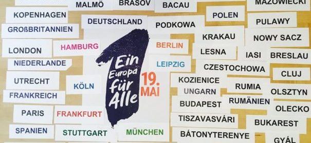 """Demonstration: """"Ein Europa für alle - Deine Stimme gegen den Nationalismus"""" (c)Facebook, bearbeitet by iQ"""