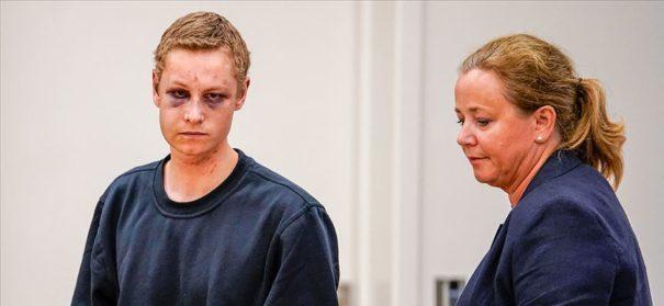 Moschee-Angreifer von Oslo im Gerichtssaa