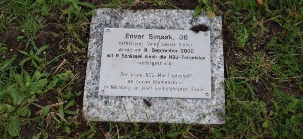 NSU-Mahnmal von Enver Şimşek beschädigt © Stadt Zwickau, bearbeitet by iQ.