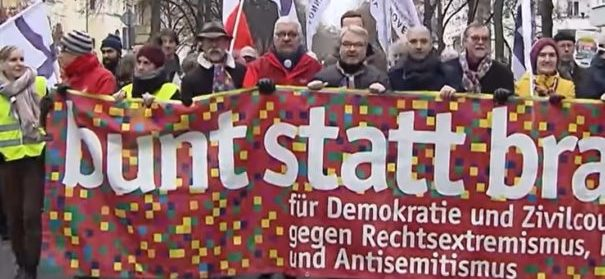 Demo gegen Rechtsextremismus