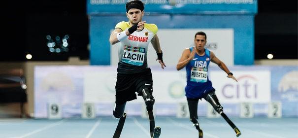 Ali Laçin in der Para Leichtathletik-WM in Dubai © Privat, bearbeitet by iQ.